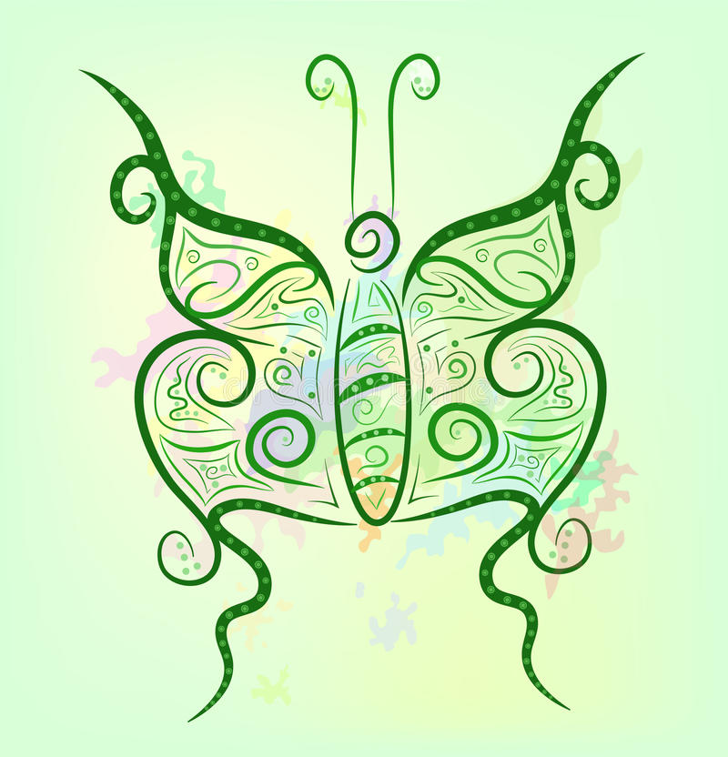 вычура бабочки предпосылки яркая иллюстрация вектора