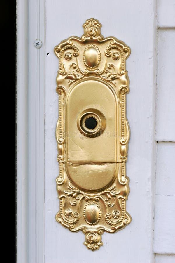 вычура дверного звонока стоковые изображения rf