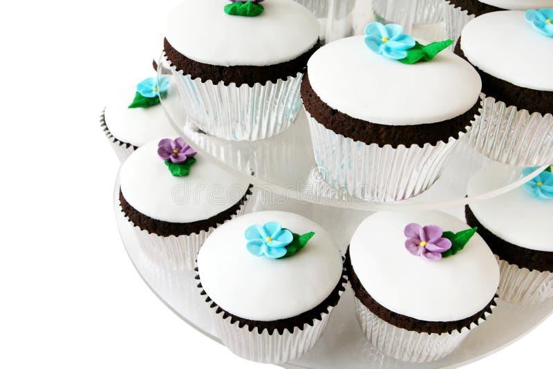 вычура чашки тортов стоковые изображения rf