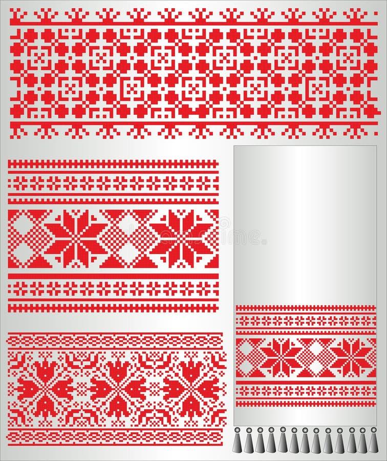 вышейте petern ukrainian полотенца рубашки иллюстрация штока