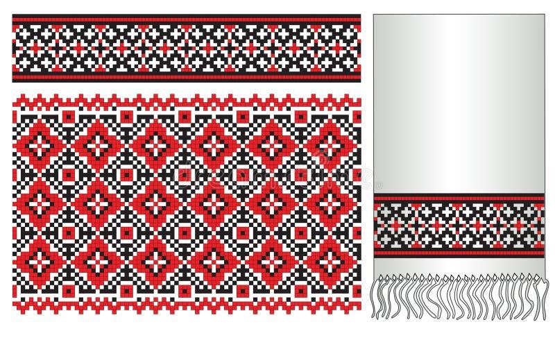 вышейте ukrainian полотенца картины бесплатная иллюстрация