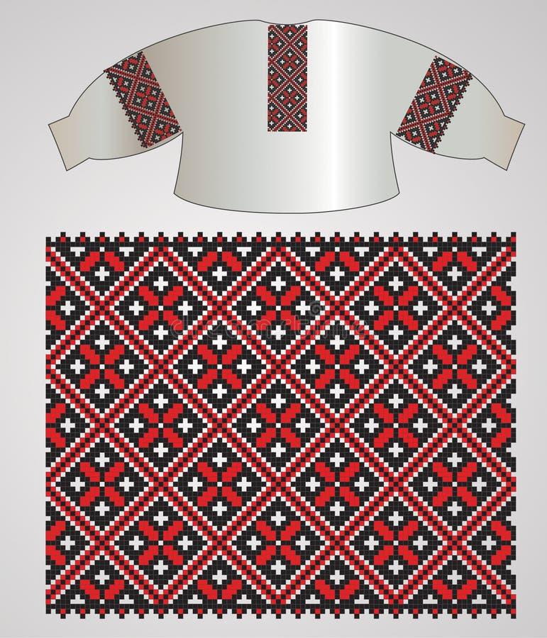 вышейте ukrainian рубашки иллюстрация вектора