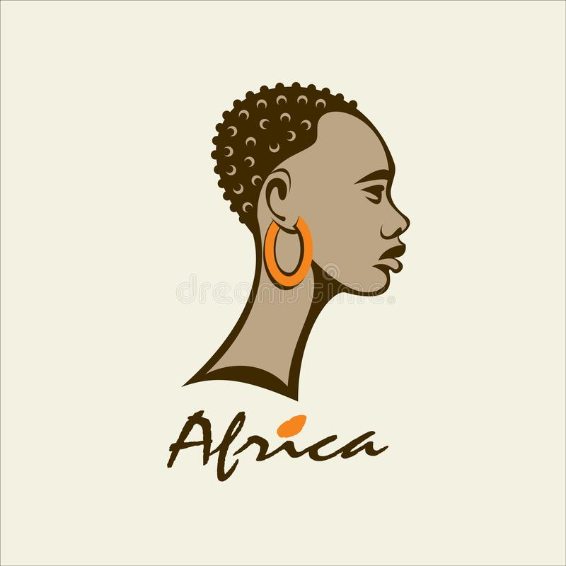 вышесказанного африканская женщина сеть вектора логоса глобуса 2 иллюстрация вектора