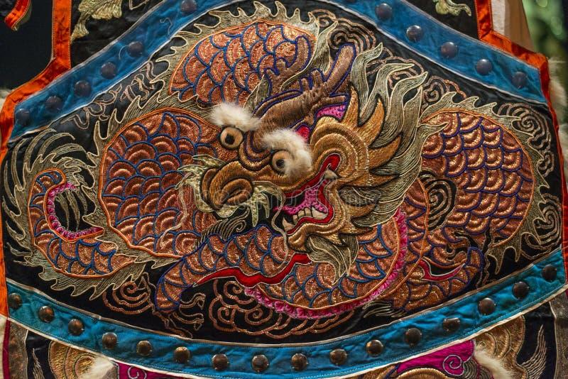 Вышивка дракона стоковое фото rf