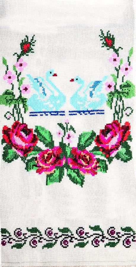 Вышивка, народные искусства и ремесла, handmade иллюстрация вектора