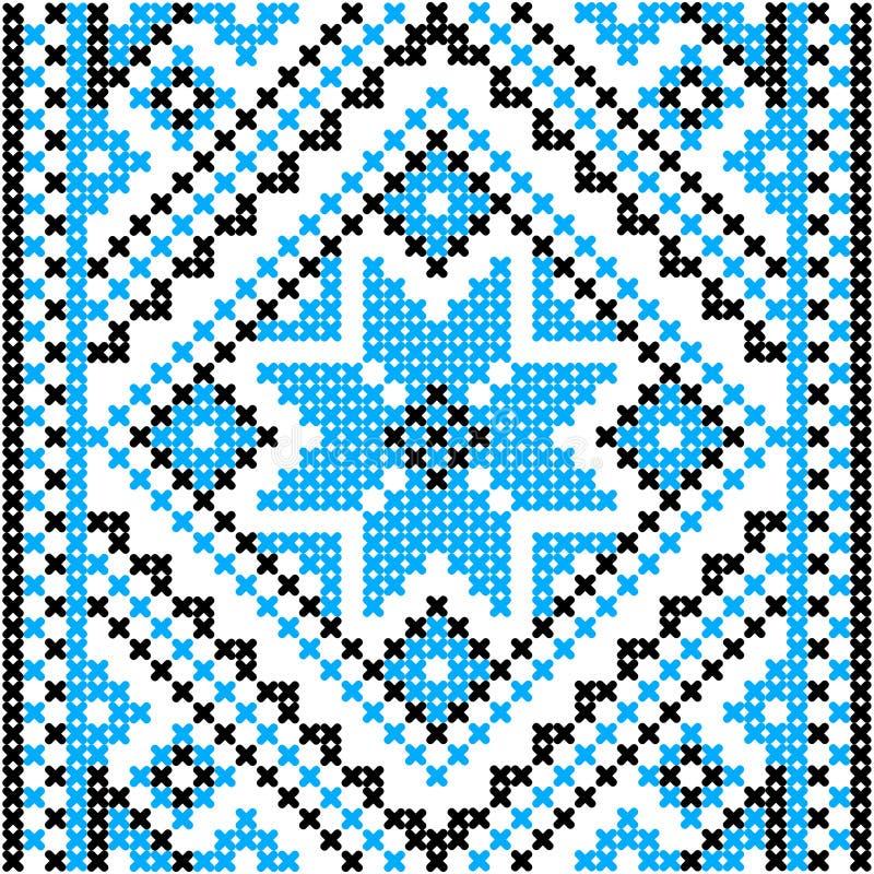 Вышивка Украинский национальный орнамент иллюстрация вектора