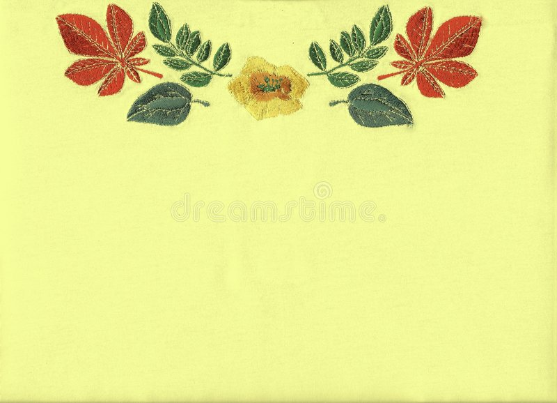 вышивка флористическая иллюстрация штока
