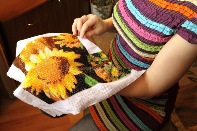 Вышивка шариками стоковые изображения