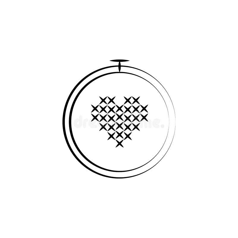 Вышивка, шьет значок Элемент значка искусства и ремесла Тонкая линия значок для дизайна вебсайта и развития, развития app наградн иллюстрация штока