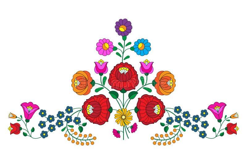 Вышивка Kalocsa иллюстрация штока