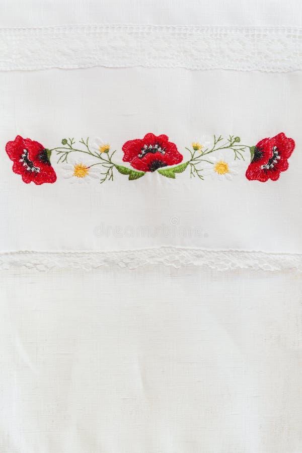 Вышитый цветочный узор стоковое изображение