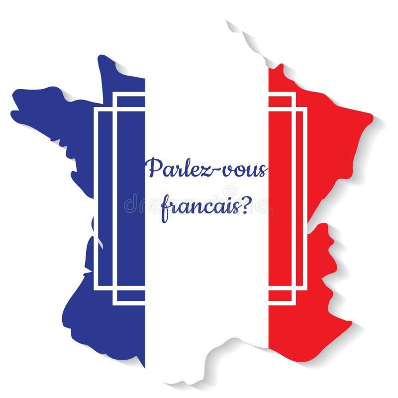 Вы говорите француза также вектор иллюстрации притяжки corel иллюстрация штока