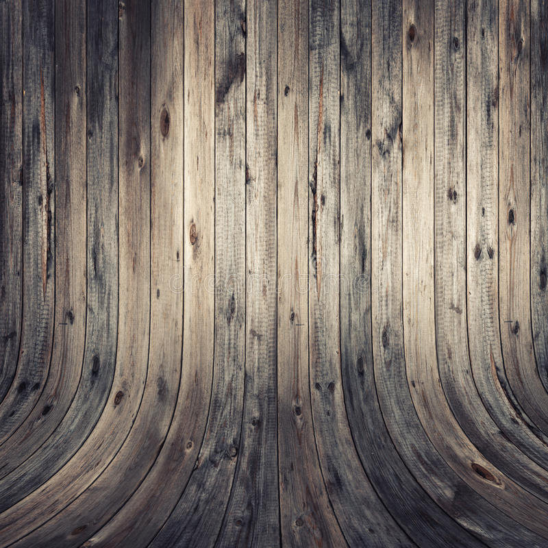 Выдержанные деревянные стена и пол стоковое фото