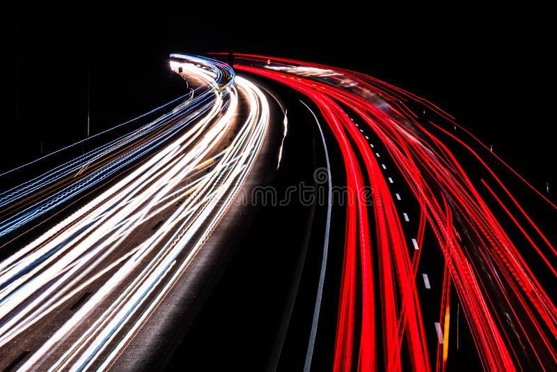 Выдержка долгого времени шоссе стоковое фото rf