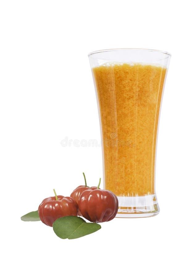 Выдержка сока Acerola стоковая фотография