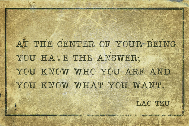Вы знаете Lao Tzu стоковая фотография rf