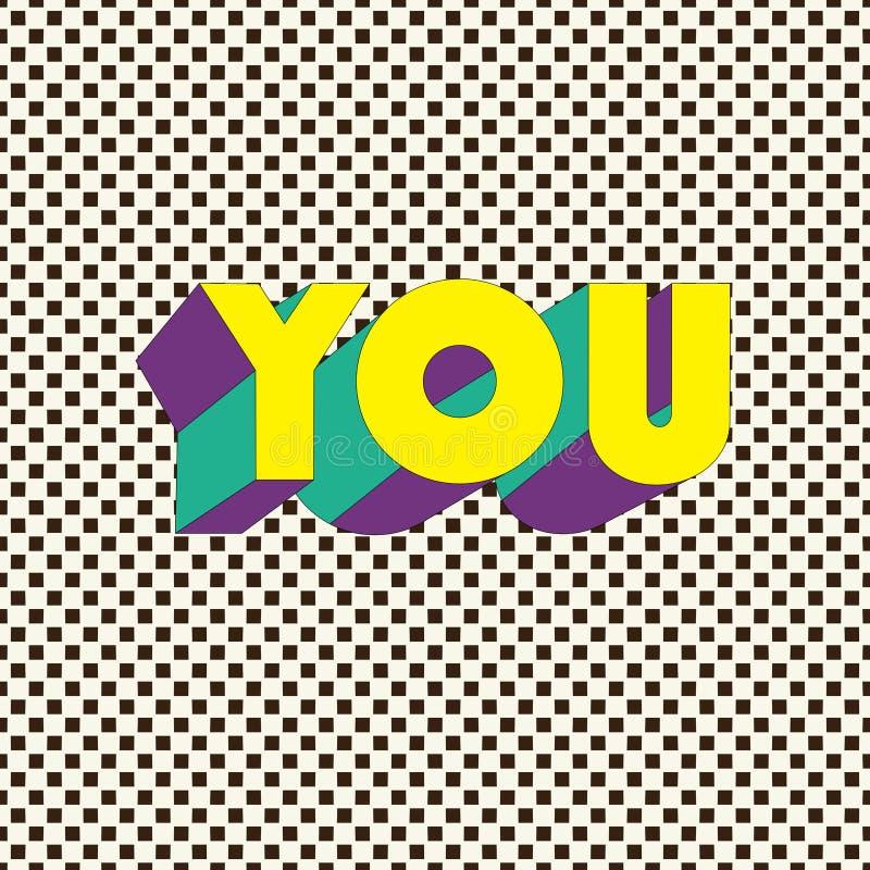 ВЫ - Карточка оформления с литерностью Плакат Minimalistic бесплатная иллюстрация
