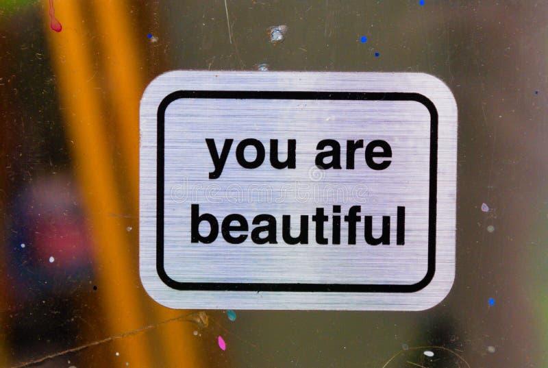 Вы красивые знаки стоковые фото