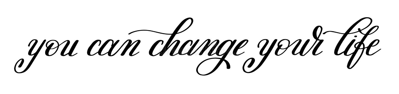 Вы можете изменить ваше вдохновляющее жизни рукописное положительное иллюстрация вектора