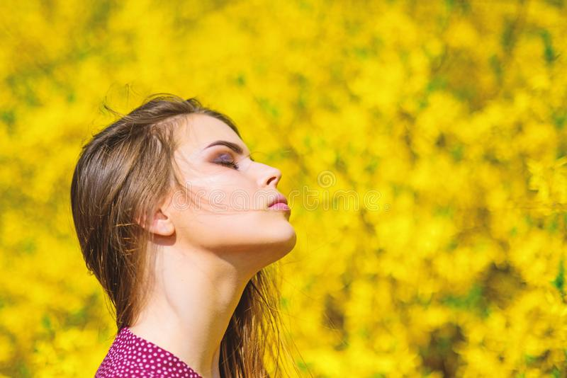 Вы настолько красивы милое skincare женщины девушка как природа естественный макияж красоты мода волос зацветать лета стоковые фотографии rf