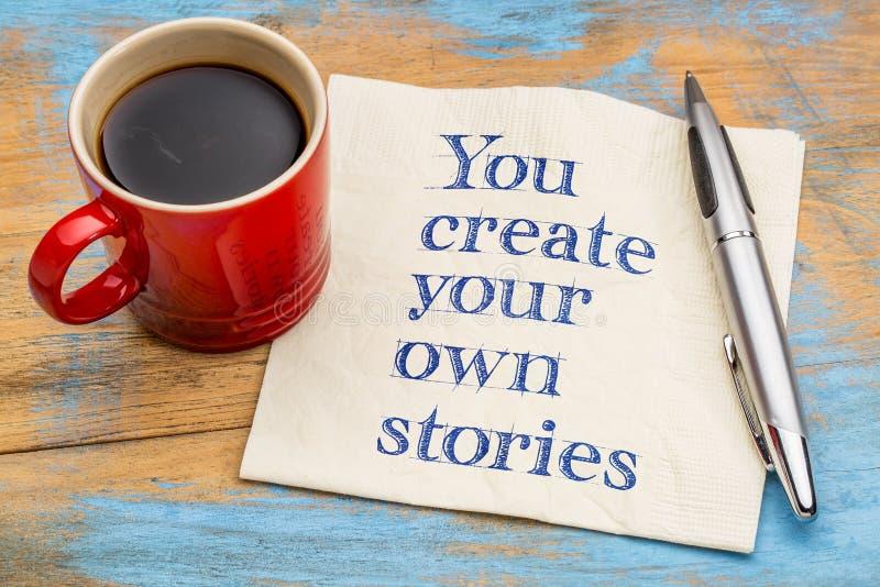 Вы создаете ваши собственные рассказы стоковое изображение rf