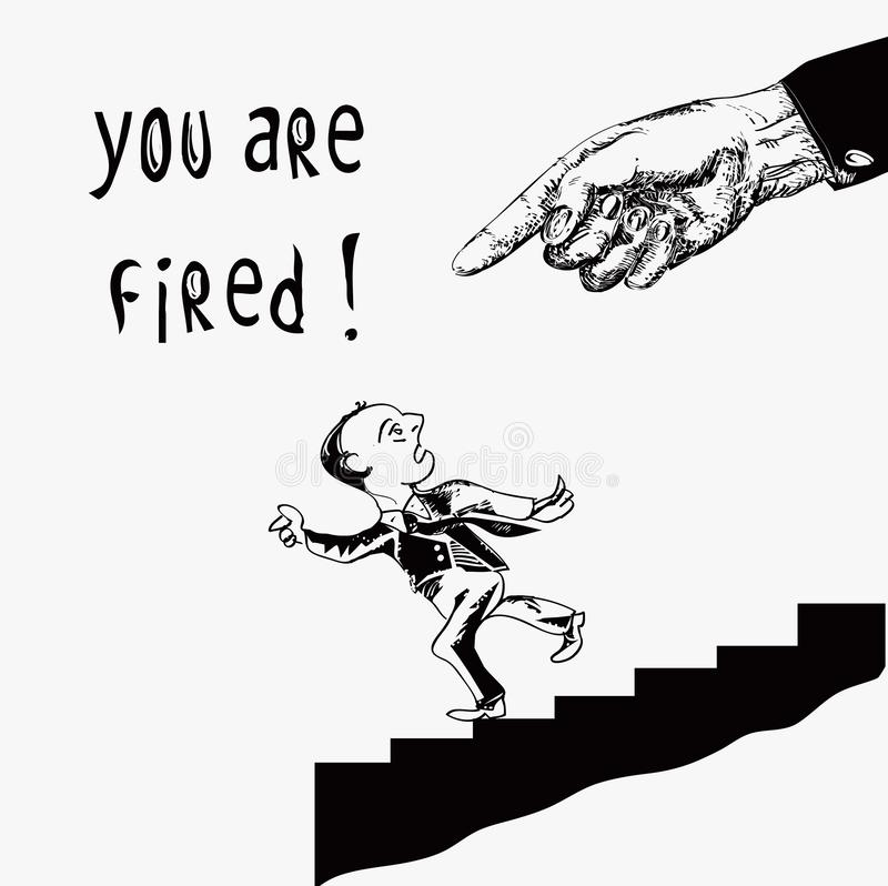 Вы увольнятьы бесплатная иллюстрация