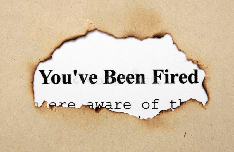Вы увольняны стоковые фотографии rf