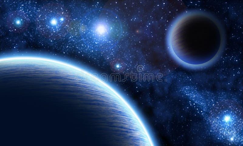 Выдуманный космос иллюстрация штока