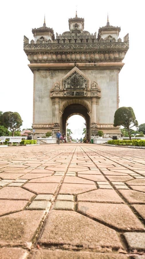 Вьентьян, Лаос, Patuxai стоковые фотографии rf