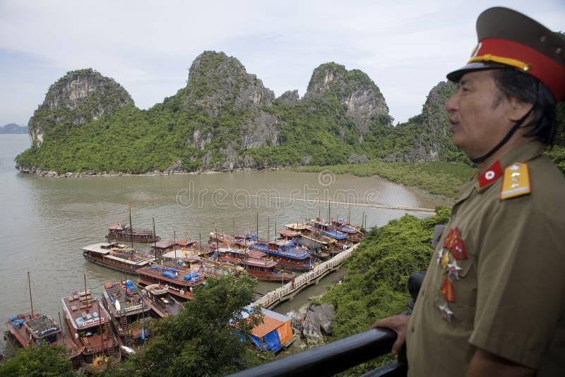 вьетнамец офицера ha залива длинний стоковые изображения rf