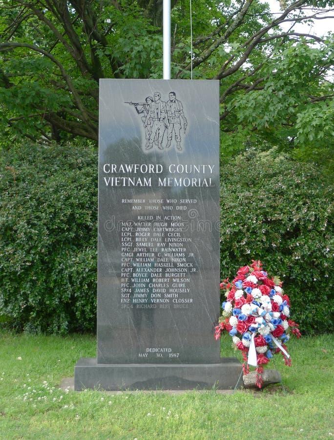 Вьетнам мемориальное Crawford County, Арканзас стоковое фото
