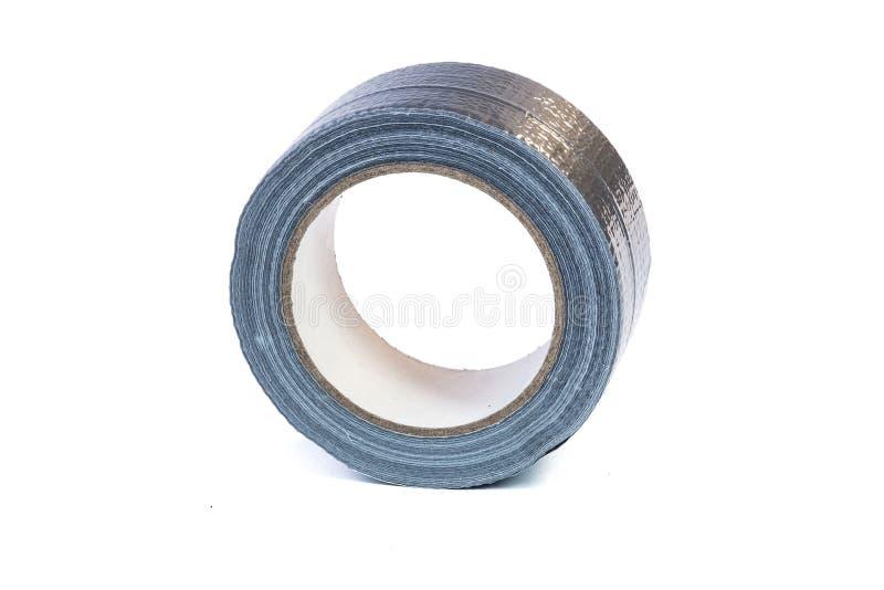 Вьюрок ремонта серебра крена клейкая лента для герметизации трубопроводов отопления и вентиляции стоковые фотографии rf