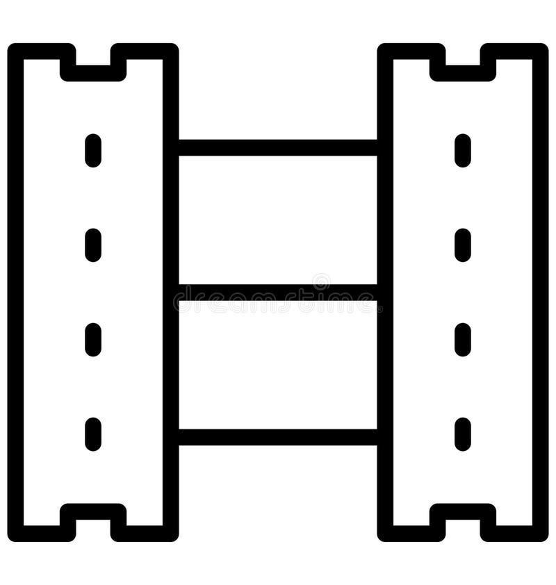 Вьюрок фильма изолировал значок вектора который может легко доработать или отредактировать бесплатная иллюстрация