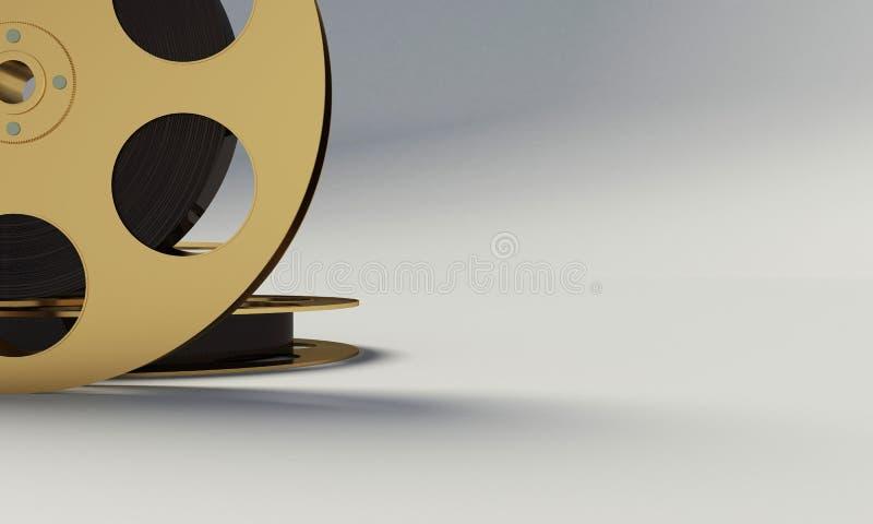 Вьюрок фильма с прокладкой фильма иллюстрация штока