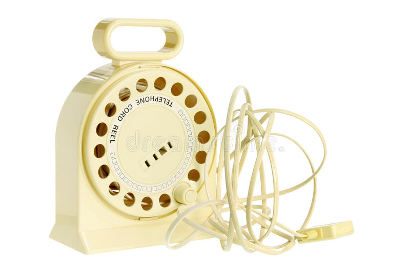 Вьюрок шнура телефона Стоковое фото RF