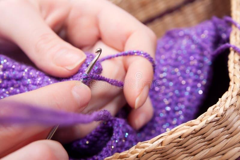 Вязание крючком стоковое фото