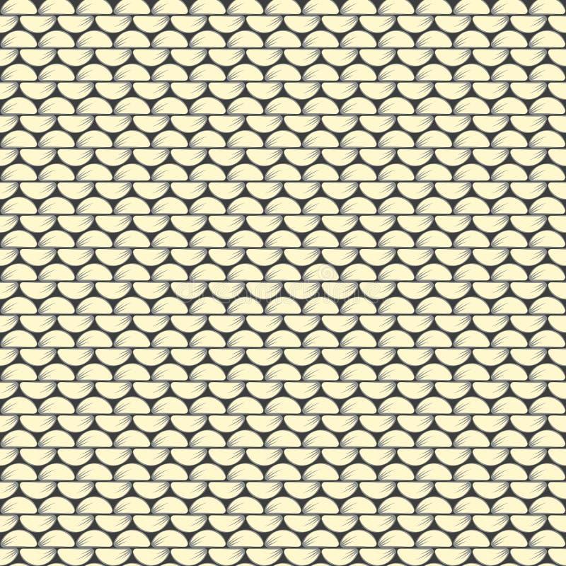 вязать Обратный стежок stockinette предпосылка текстурная Для проектов связанных к needlework, ручная работа, уют, одежда, взаимо иллюстрация штока