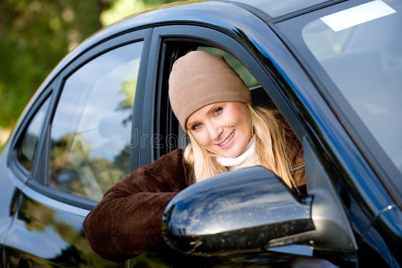 В автомобиле стоковая фотография rf