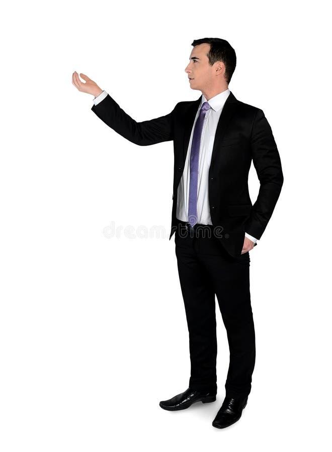 Владение бизнесмена что-то стоковое изображение rf