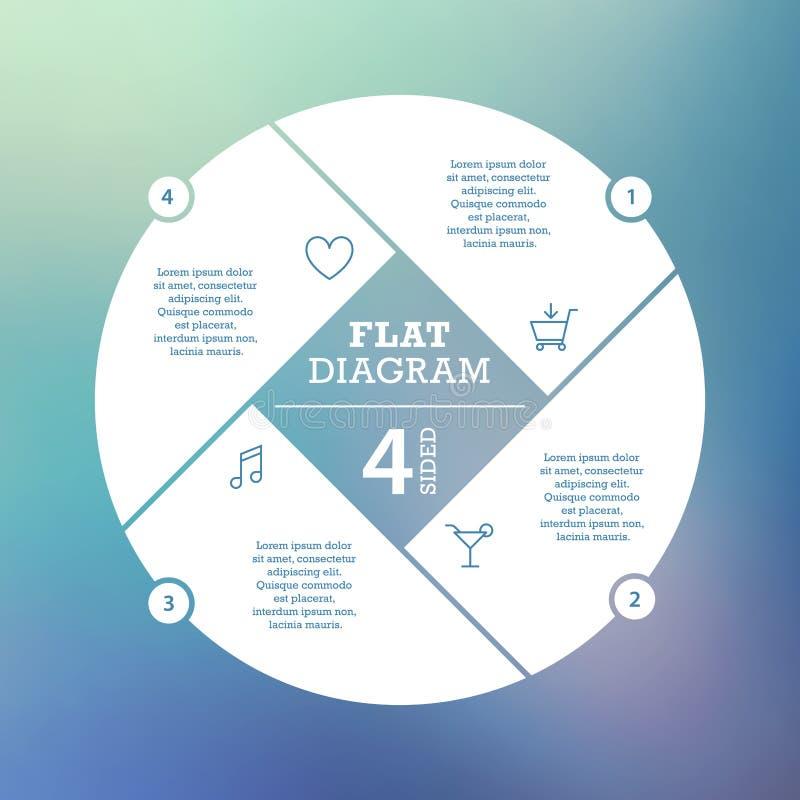 владение домашнего ключа принципиальной схемы дела золотистое достигая небо к Головоломка Infographic круга Шаблон для диаграммы  иллюстрация вектора