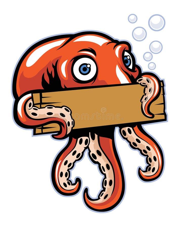 Владение осьминога знак иллюстрация вектора