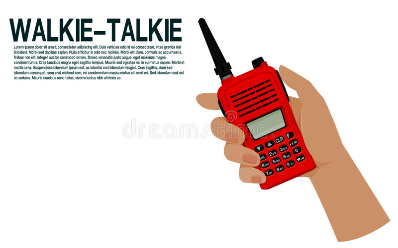 Владение руки звуковое кино walkie иллюстрация штока