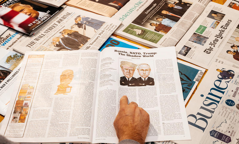 Владимир Путин и Дональд Трамп стоковые изображения