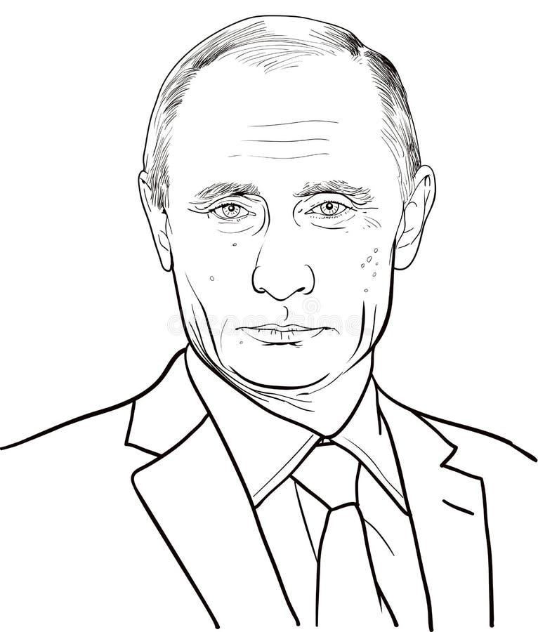 Рисуем портрет в.в.путина