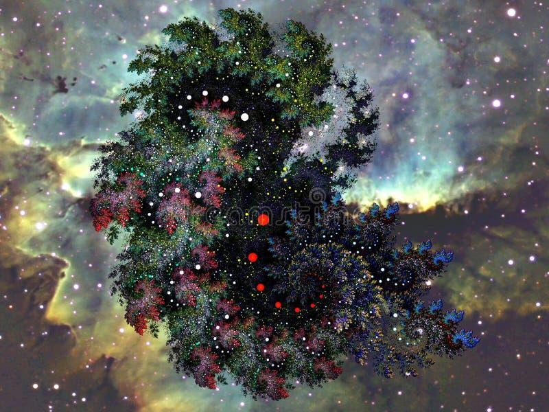 В галактике фрактали faraway иллюстрация штока