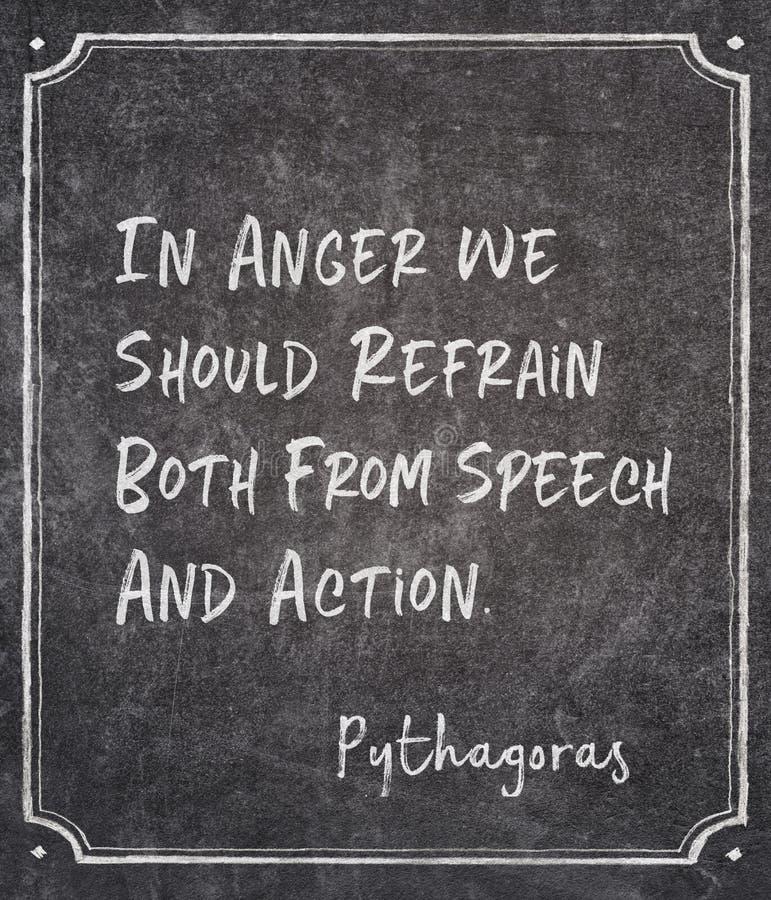 В гневе Пифагоре стоковые изображения rf
