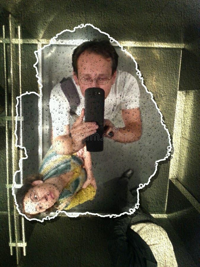 В лифте стоковая фотография