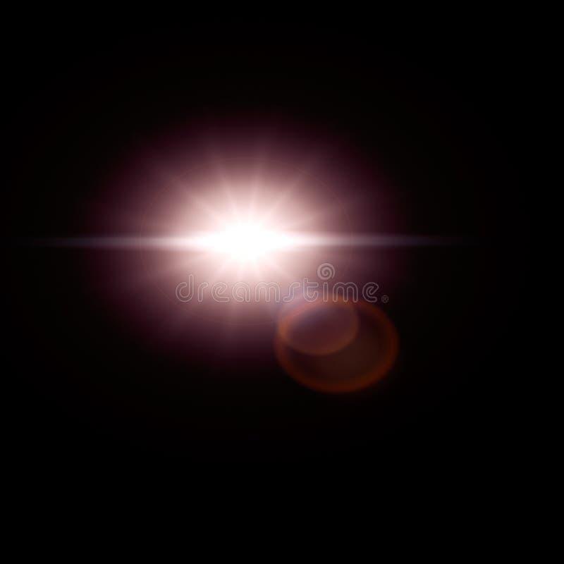Влияние пирофакела объектива пирофакела Солнця стоковое изображение rf