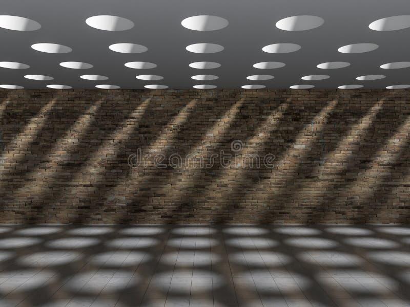 влияние тени 3D на стене & поле стоковые изображения rf