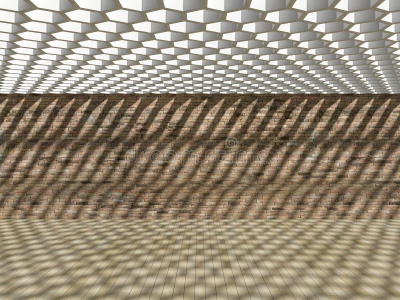 влияние тени 3D на стене & поле бесплатная иллюстрация